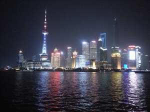 The Skyline at night from the Bund!