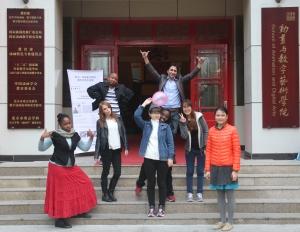 From left: me(Jamaica); Sylvian (Madagascar); Mahmood (Afghanistan); Britney (England); (Hong Da Ae (Korea); Rachel (Kenya); Ina (Korea); Xu Ya Ping - Teacher (China)