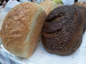 French and Rye bread on sale at the Christmas bazaar