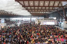 Going Home - Chinese New Year is the worst time to travel. It's the one time of the year where the entire country gets a holiday, so everyone makes the train back to their home towns during that week.
