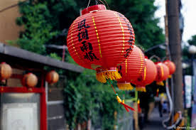 Red Lanterns - 've seen these hung everywhere, though I'm not sure why