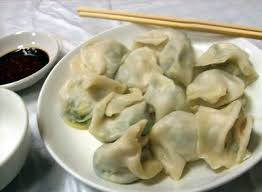 Jiaozi - Chinese dumpling is eaten on the eve of he New Year